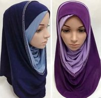 arabian scarf muslim - New arrival arabian women muslim shawls and wraps islamic hijabs