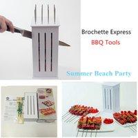 Wholesale Meat Skewer Machine Brochette grill Express bbq brochette kebab maker spiedini arrosticini maker bbq accessories with16 Skewers
