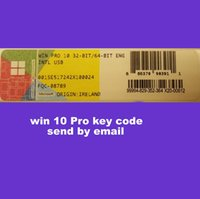 Wholesale 2016 brand new win10 pro key code bit and bit OEM Online activation work send by eamil