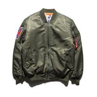 Wholesale Fall KANYE WEST YEEZUS Jacket MA1 Bomber Jacket Pilot Jackets Hip Hop Sport Suit Parkas Winter Autumn Windbreak Jacket Men Coat