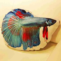 bettas fish - Original Designs Creative Cute Amusing Big Fish Bettas Printing Pillows Cushions