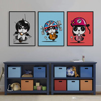 baby pandas pictures - Modern Kawaii Cartoon Red Panda Motor Canvas A4 Big Art Print Poster Nursery Wall Picture Kids Baby Room Decor Painting No Frame