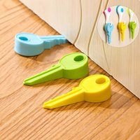 Wholesale New Silicone Key Style Home Decor Finger Safety Door Stop Stopper Doorstop Wedge Protection For Baby