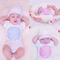 Wholesale 2016 pieces White Kids Baby Girl Boy Clothes letter Bodysuit Romper Jumpsuit Outfits One pieces UK