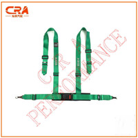 Wholesale Factory Selling KATA Green quot inch points Buckle Racing Seatbelts Car Racing Harness