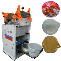 Wholesale Semi automatic hand pressure type automatic cup sealer milk tea sealing machine sealer trays cup sealing machine