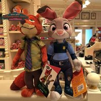 Wholesale The Zootopia Crazy Animal City Plush Toys NEW Children Cartoon cm Fox Nick Wilde Bunny Judy Hopps Plush Toy Doll High Quality K7065