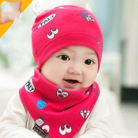 Wholesale The New High Quality Children Lovely Hats Hot Sale Baby Cotton Cloth Caps Triangular Bandage Suits