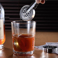 Wholesale StainlessSteel Whiskey Sipping Ice Cube Whisky US Dollar sign Whisky Rock Cooler Wedding Gift Favor Christmas Bar