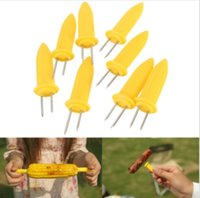 Wholesale BBQ Jumbo Corn Holders Holder Skewers Barbecue Fruit Food Holder Recyclable you can wash it after BBQ