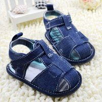 Wholesale Baby Kids Baby Boys Girls Shoes First Walkers Solid Cotton Toddler Infant Kids Boys Girls Denim Shoes