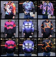 Wholesale Men s clothes autumn and winter New pattern D graffiti pattern Loose coat Pure cotton jacket M XL sales