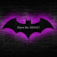 Wholesale Piece Batman Logo Combo Gadget Mirror Plus Batman Eclipse Light Remote Controlled LED Wall Light
