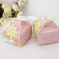beautiful birthday card - 100pcs Flower Laser Cut Candy Boxes with Ribbon Wedding Favor Christmas Anniversary Party Beautiful Gift Box