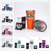 beer sellers - Best Seller YETI cups Rambler Tumbler oz YETI Cups Cars Beer Mug ML Large Capacity Mug Yeti Bilayer Stainless Steel Cup