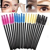 Wholesale 200 One Off Disposable Eyelash Brush Mascara Applicator Extension Micro Spoolers Wand Brush Travel Mini Brushes