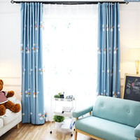 Wholesale The new Korean style curtains velvet embroidery children s room curtain fabric