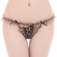 Wholesale New Hot Sale Sexy Underwear Women Lace G String Sexy Panties sexy leopard thong M XL