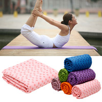 Wholesale High Quality Soft Travel Sport Fitness Exercise Yoga Pilates Mat Cover Towel Blanket Sports Towel x63cm DHL ems fedex free ship