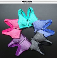 Wholesale Women s Zip Sports Bra Wirefree Yoga Bras Tank Top Zip Shakeproof High Intensity Push Up mutil color