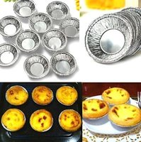 aluminum foil baking pans - 10PCs Disposable Aluminum Foil Baking Cups Egg Tart Pan Cupcake Case