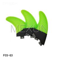 Wholesale FCS water surfboard fin rudder G3 M honeycomb fin set S size