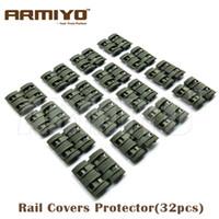 airsoft army guns - Armiyo Airsoft Handguard Rubber Covers fit mm Rail Army Green Hunting Gun Accessories
