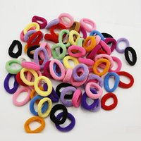 Wholesale Hair Bands XNew Fashion Girls Kids Elastic Hair Bands Bobbles Bows Boutique Gifts Party Birthday Casual