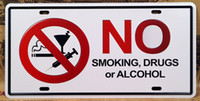 Wholesale Retro Metal Art Poster No Smoking Alcohol Metal Tin Sign Bar Pub Club Tavern Wall Decoration x30cm