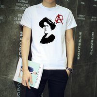 anarchist shirts - 2016 Overseas Selling Cotton Round Neck Fashion Creative Emma Goldman Anarchism Anarchist Punk Men Tee T shirt quot