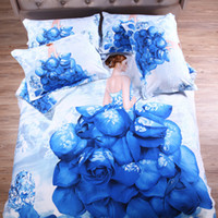 beautiful pictures people - Bed Cover Time Set Pieces Full Same As Picture Limited Promotion Beautiful Flower Girl Printed Cartoon Pieces Duvet Cover Sets