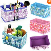 Wholesale Multifunction Beauty Flower New Folding Makeup Cosmetics Storage Box