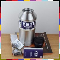 beer mugs sports - DHL Free Ship YETI oz stainless steel double layer insulation Cup car YETI cups of water cup beer mug Grand Sport Capacity tundra coolers
