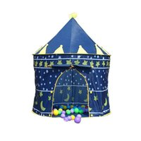 Wholesale hot Children Beach Tent Prince and Princess Palace Castle Children Playing Indoor Outdoor Toy Tent Game House