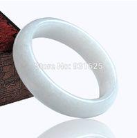 Wholesale NEW Beautiful Natural Genuine White Jade Bracelet Bangle real jade white stone bangles fashion woman s jewelry mm