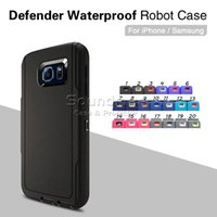 Wholesale Defender NOTE iphone Combo case for iphone s plus sSE s amsung galaxy s7 s6 edge plus note belt Holster waterproof retailbox