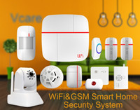 auto watering kit - WIFI GSM smart home dual network security alarm system kits C One key SOS alarm with HD ip camera water detector Gas detector