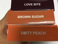Wholesale Kylie Lip Kit Brown Sugar Love Bite Dirty Peach Matte Liquid Lipstick By Kylie Cosmestics Lip Liner With Serieal Numbr Card DHL