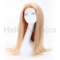 al por mayor de calidad superior 613 del pelo recto-Pelucas llenas brasileñas # 613 del cordón del pelo humano recto sedoso de las pelucas llenas llenas del cordón de la alta calidad de calidad superior