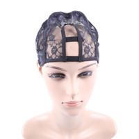 Wholesale Black Machine Made wig Caps Hair Weft making cap weaving caps weave Net Supplier Size Medium Lace Cap