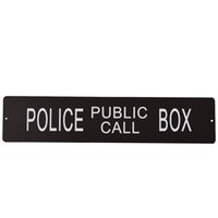 Wholesale 1pc x3 inch Police Public Call Box Sign Novelty Retro Metal Square Wall Plaque Fast Shipment High Quality