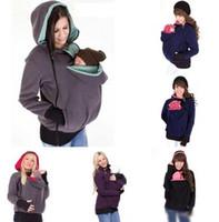 Wholesale Baby Carrier Kangaroo Jacket Winter Hoodie Maternity Outerwear Kangaroo Sweatshirt Coat Fleece Kangaroo Pullover Clothes Plus Size
