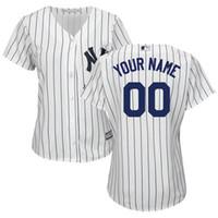 Wholesale Customized New Womens New York Yankees Derek Jeter Alex Rodriguez Baseball Jerseys Free Drop Shipping