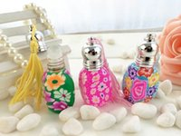 Perfume Shop - Empty ml Polymer Clay Wrapped Perfume Roller with Color Tassel Refillable Perfume Bottle Fragrance Shop Supplies HN003