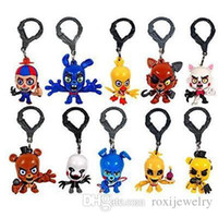 bear collector - Teddy bear keychain toy doll building blocks FNAF Five Nights at Freddy s hanger Characters Golden Freddy Collector Clip Key Ring Best