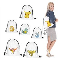 Wholesale New Arrivals D Women Lady Poke Go Printed Backpack Shopping Bags Fashion Children School Bag Casual Sport Outdoor drawstring handbags Packs