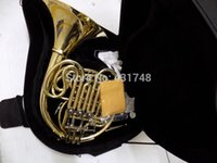 Wholesale F Bb key Four flat Double Row French Horn With foambody case EMS Musical instruments