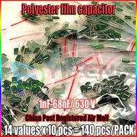 assorted storage box - Value capacitor kit V J102J to J683J Polyester Film capacitor Assorted Kit with electronics storage box