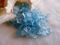 bamboo pole fishing - AAA Natural aquamarine nunatak gravel crystal gems stone fish tank decoration g a