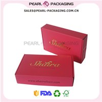 Wholesale Fuschia Color Gold Stamp Logo Hair Packaging Box Size quot x6 quot x2 quot Corrugated Box for Hair Extension Packaging Wig Packaging